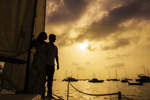 sailing at the Mumbai shoreline Gateway of India to Alibaug