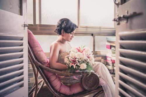 Christian wedding bridal portrait