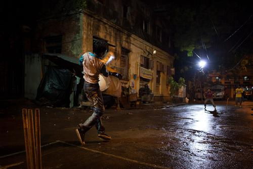 Night Cricket in the Streets