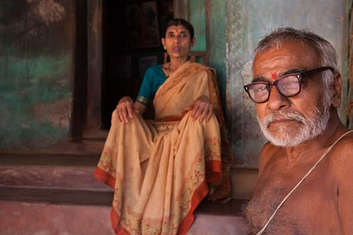 Hindu Man with Wife