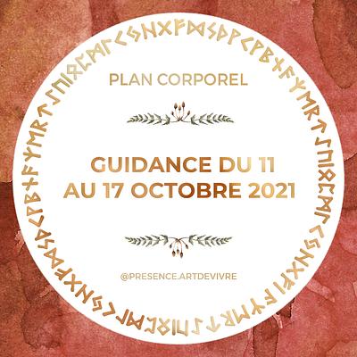 Guidance du 11 au 17 octobre 2021