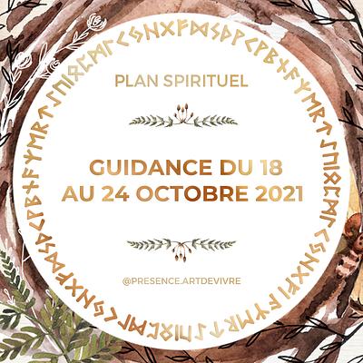 Guidance du 18 au 24 octobre 2021