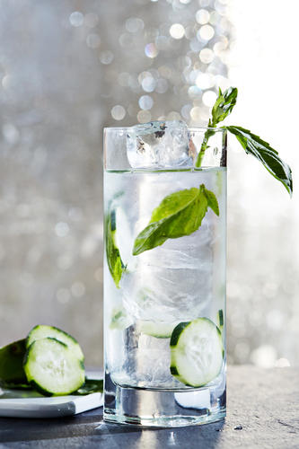 Basil Gin Smash Cocktail