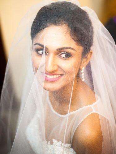 Christian Bride ready to walk down the aisle.