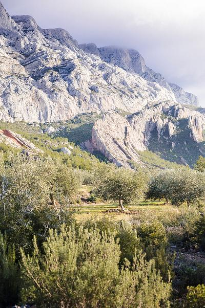 Early morning view of Sainte Victoire mountain, France