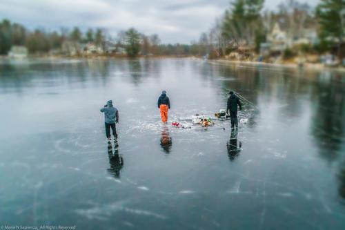 Pond Ice Fishing