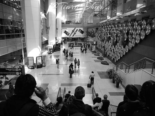 A view from the escalator - Indira Gandhi International Airport, New Delhi