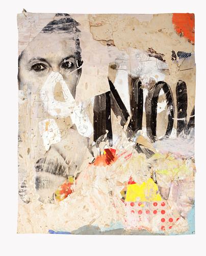 Not now_Técnica Mista S/Cartazes_55x67cm __________ Vendido