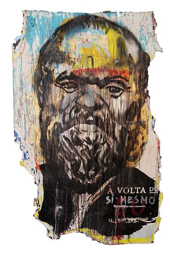 Sem título_ Técnica Mista S/Cartazes_166x100 cm