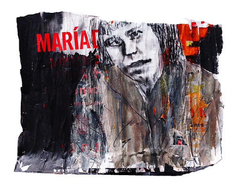 Maria_Técnica Mista S/Cartazes_95x84 cm