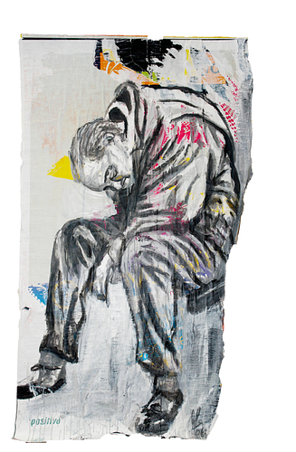 Sem título_Técnica Mista S/Cartazes_100x166 cm