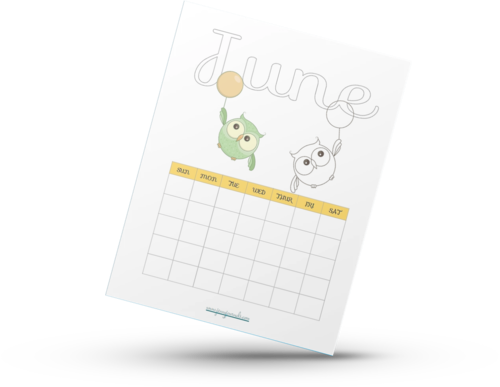 Cute Owl Coloring Calendar