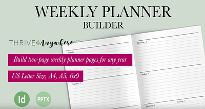 Create Automated Undated Daily Planner Pages in Powerpoint - Fast!