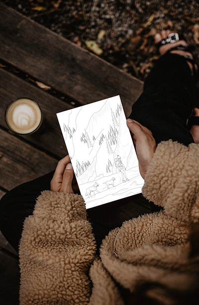 Camping Coloring Page Pack