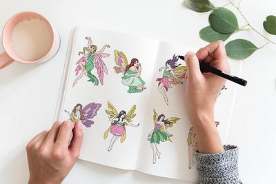DFY Magic Fairies Coloring Pack with PLR