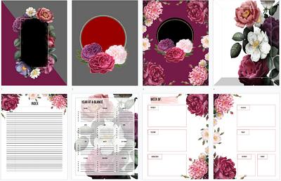 Burgundy Floral Planner