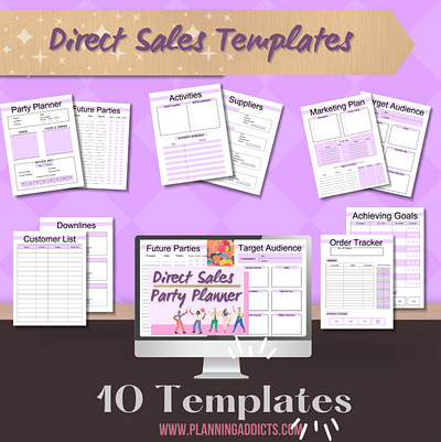 DIRECT SALES PARTY PLANNER TEMPLATES