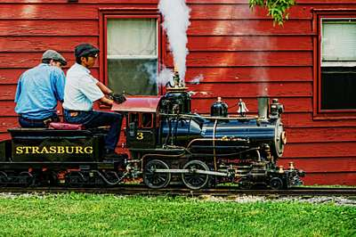 It's All Aboard the Mini Strasburg Rail Road