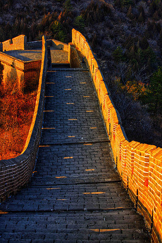 Sunlight Seeps Through the Great Wall