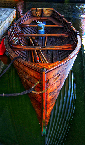 A wooden boat in Boston