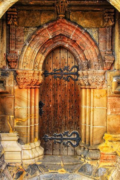 Rosslyn Chapel, side door