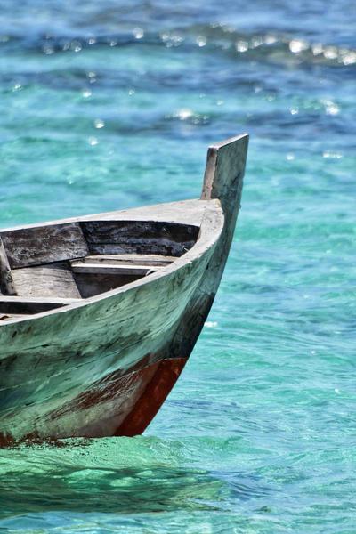 A Sailboat in the Maldives