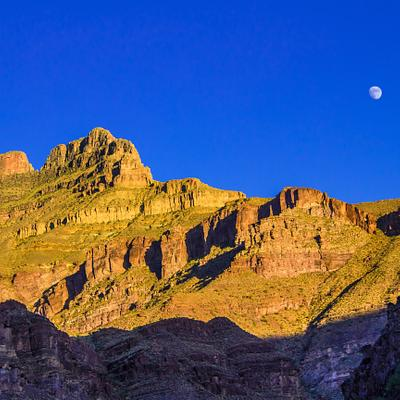 Moon in the Grand Canyon