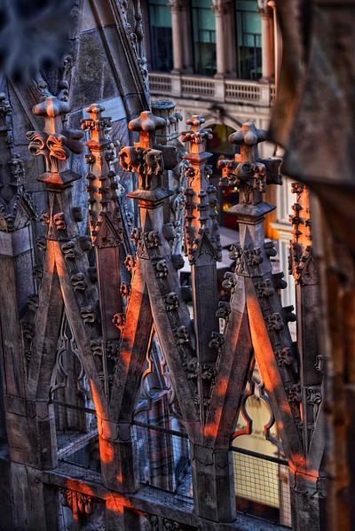 Dusk at Milan Duomo, Milan, Italy