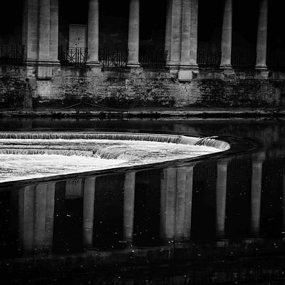 Bath, England, Somerset, B&W