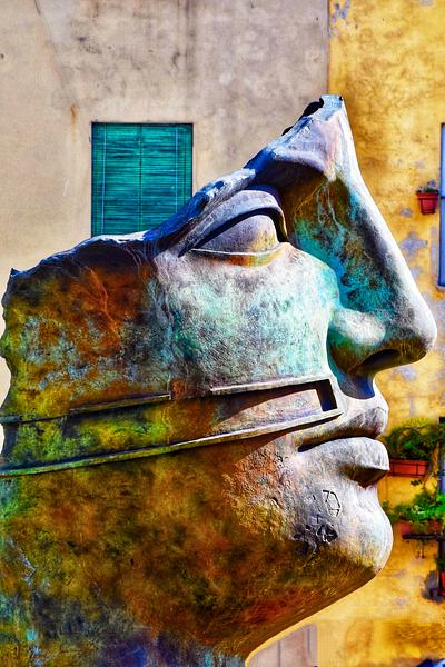The Iron Man of Lucca, Italy
