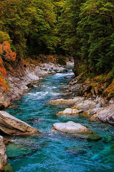 Azure Blue River, New Zealand