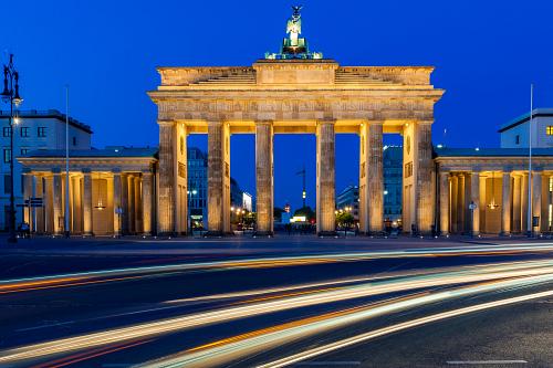 The Brandenburg Gate, Berlin at Blue Hour