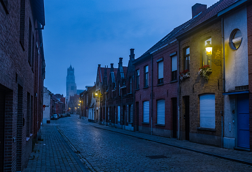 Early Morning blue hour in Bruges