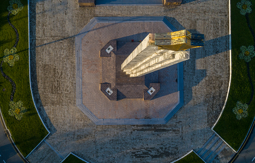 Looking down on Wings Of Victory Odessa