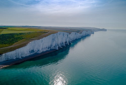 Aerial shot of Seven Sisters cliffs