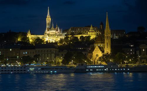 Matthias Church and Danube at Night