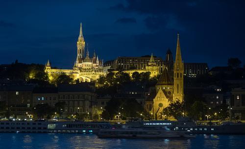 Matthias Church Budapest During Blue Hour