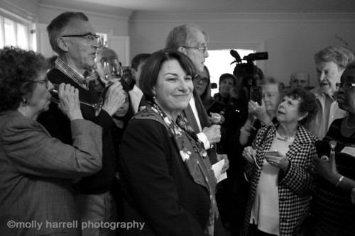 Amy Klobuchar, on the campaign trail in South Carolina