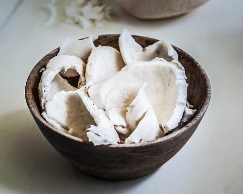 raw shaved coconut