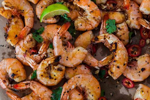 Shrimp and lime