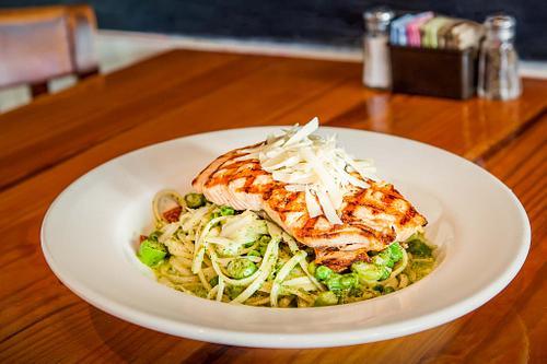 Salmon Pesto Salad