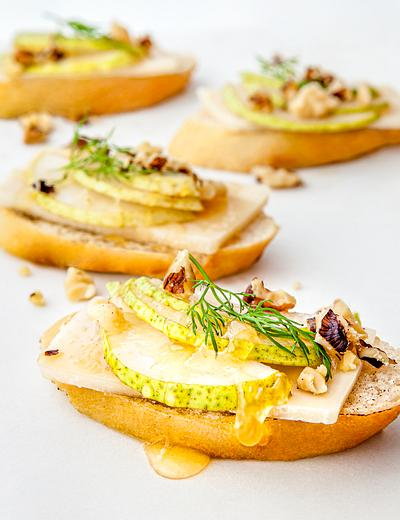 Fruit brushetta appetizer