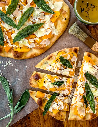flatbread Pumpkin and sage