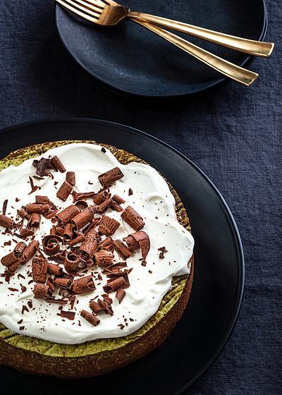 Antioxidant-Rich Matcha Cheesecake