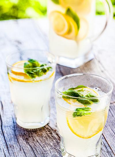 Mint Basil Lemonade