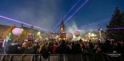 Mansfield Town Christmas Lights Switch on