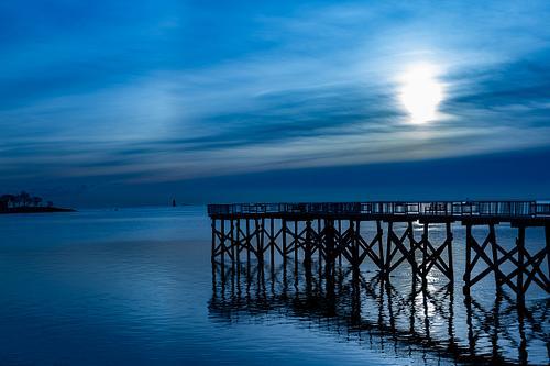 Blue pier