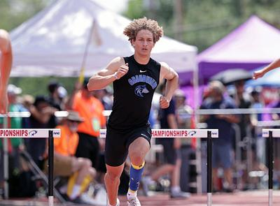 2021 State Track - Boys hurdlers