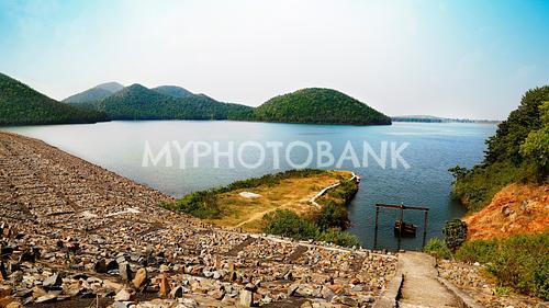 beautiful view of chandil dam