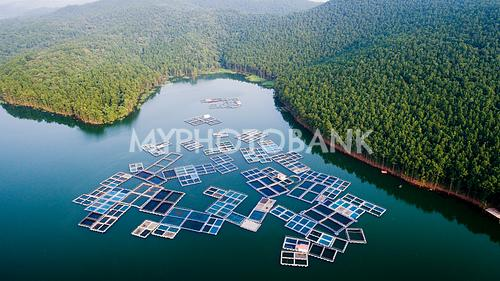 Aerial view of Chandil Dam